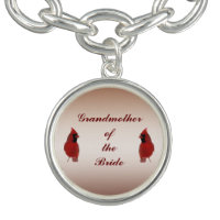 Cardinal Wedding Grandmother of the Bride Charm Bracelets