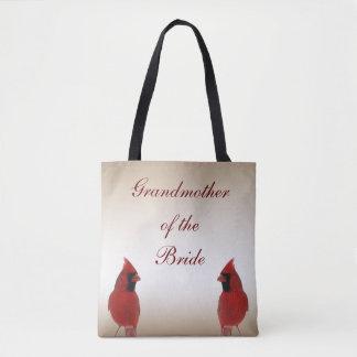 Cardinal Wedding Grandmother of the Bride Tote Bag