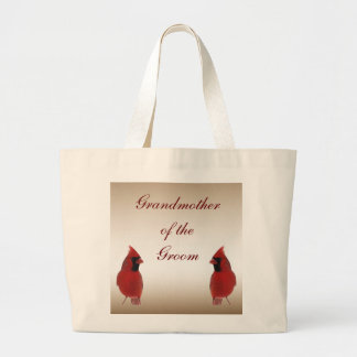 Cardinal Wedding Grandmother of the Groom Canvas Bag