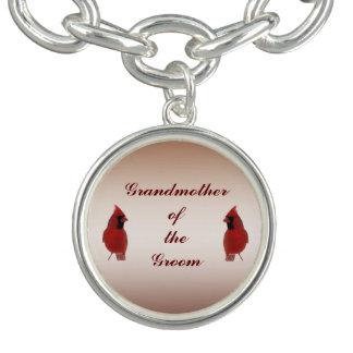 Cardinal Wedding Grandmother of the Groom Bracelet