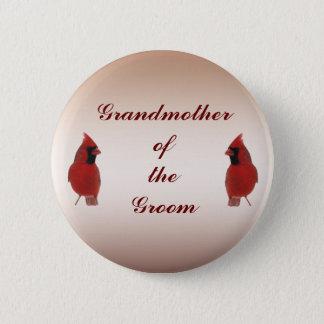 Cardinal Wedding Grandmother of the Groom Pin