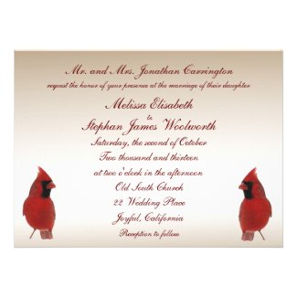 Red Cardinal themed wedding collection