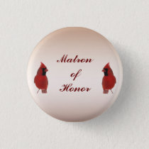 Cardinal Wedding Matron of Honor Pin