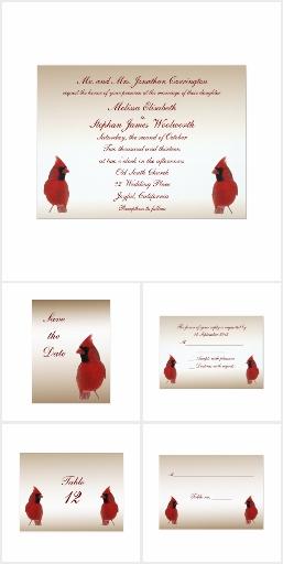 Cardinal Wedding Motif