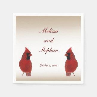 Cardinal Wedding Paper Napkin