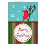 Cardinal Whimsical Christmas Greeting Card