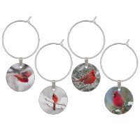 Cardinal Wine glass charm