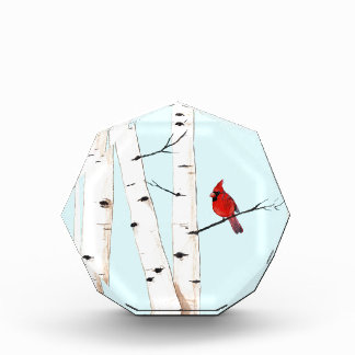 Cardinal with Birch Trees Award
