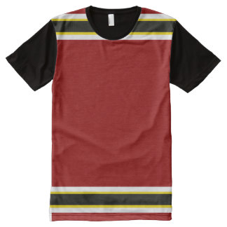 Cardinal with White Gold and Black Trim All-Over-Print T-Shirt