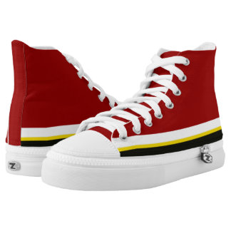 Cardinal with White Gold and Black Trim Hi-Top