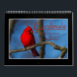 """Cardinals 2017 Monthly Calendar By Thomas Minutolo<br><div class=""""desc"""">I love to photograph songbirds and am particularly fond of cardinals. I decided to put together this calendar paying homage to these beautiful birds. I hope that you like this! Tom</div>"""