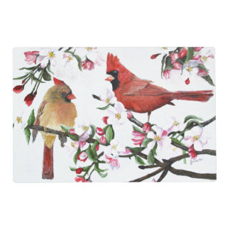 Cardinals and Apple Blossoms Placemat