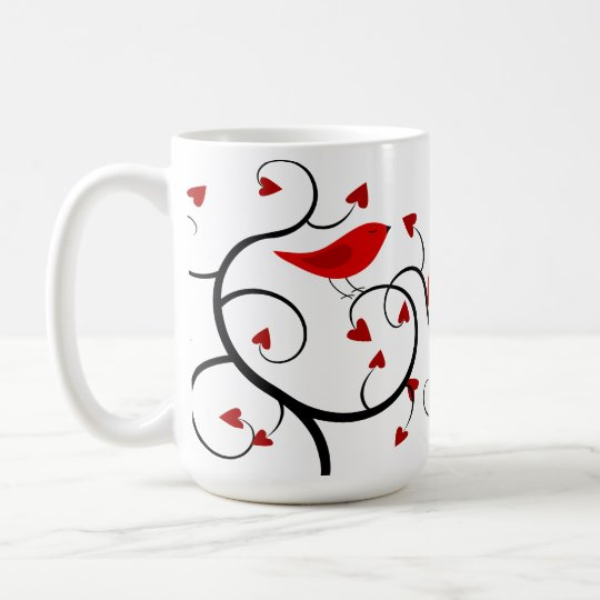 Cardinals and Vines Happy Valentine's Day Mug