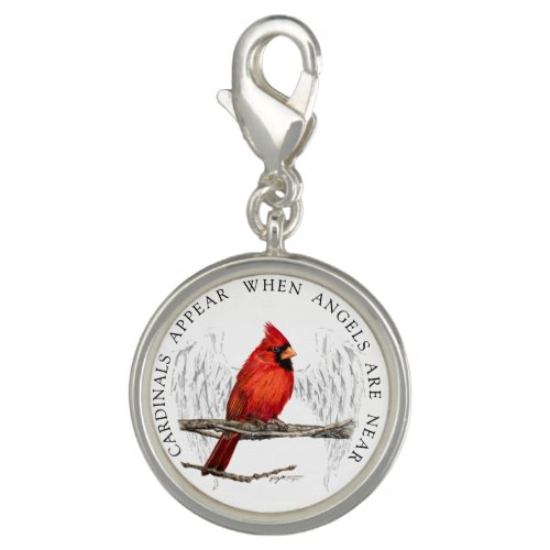 Cardinals Appear Angels Are Near Keychain Clip Charm