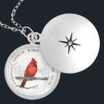"Cardinals Appear When Angels Are Near Necklace<br><div class=""desc"">This necklace features my colored pencil painting of a lone cardinal. The phrase ""Cardinals Appear When Angels Are Near"" has special meaning for many people. Some believe that the presence of a cardinal is the spiritual embodiment of a loved one that has passed away. Keep their memory close to your...</div>"