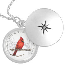 Cardinals Appear When Angels Are Near Necklace