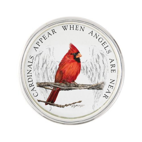 Cardinals Appear When Angels Are Near Pin