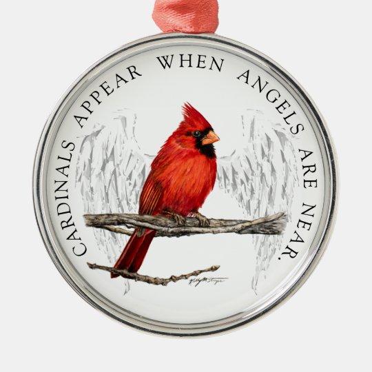 3cbc255a Cardinals Appear When Angels Near Ribbon Ornament