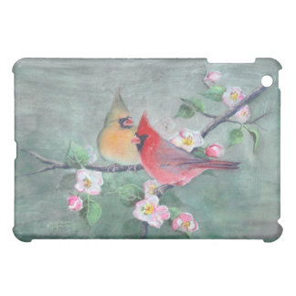 CARDINALS & APPLE BLOSSOMS by SHARON SHARPE Cover For The iPad Mini