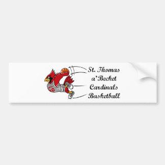 Cardinals basketball script bumper sticker