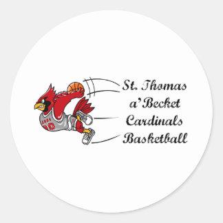 Cardinals basketball script sticker