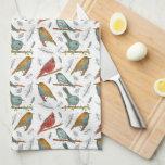 Cardinals Bluebirds Chickadee Watercolor Wildlife Kitchen Towels