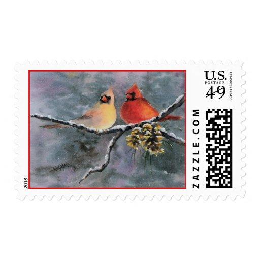 CARDINALS by SHARON SHARPE Stamp
