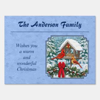Cardinals Christmas Feast Blue Sign