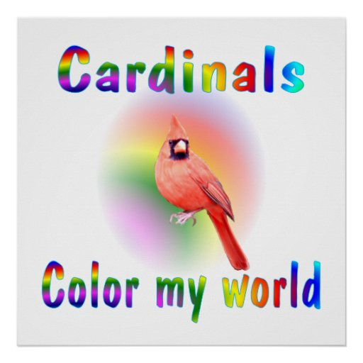 Cardinals Color My World Poster