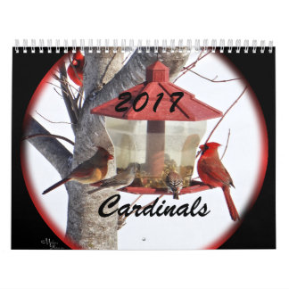 Cardinals for 2017- change year as needed calendar