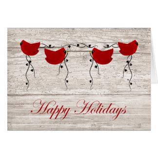 Cardinals Happy Holidays Card