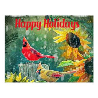 Cardinals Holiday Card Postcard