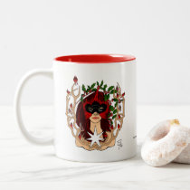 Cardinals & Holly Holiday Mug