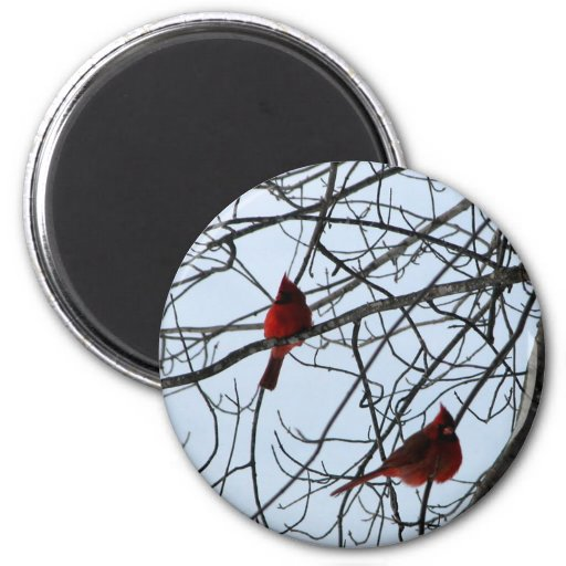 Cardinals in a Tree Refrigerator Magnet