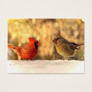 Cardinals in Autumn ATC Card