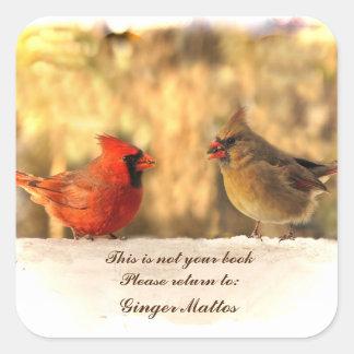 Cardinals in Autumn Bookplate