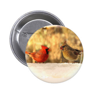 Cardinals in Autumn Button