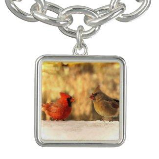 Cardinals in Autumn Charm Bracelet