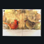"Cardinals in Autumn iPad Air Case<br><div class=""desc"">Here is an iPad Air case featuring Mr. and Mrs. Northern Cardinal. It is autumn with glorious foliage in the background but the first snow has fallen to give us a preview of winter. He is a brilliant red color. She is orange, gold and brown. Both have crests and orange...</div>"