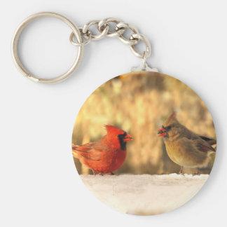 Cardinals in Autumn Keychain