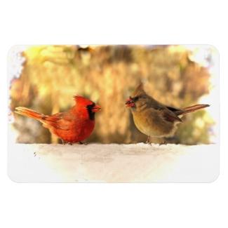Cardinals in Autumn Magnet