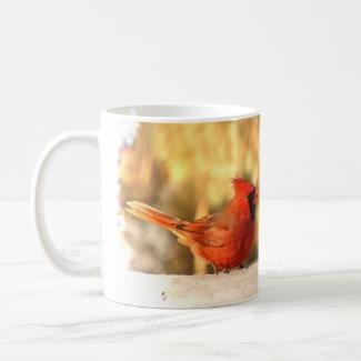 Cardinals in Autumn Mug