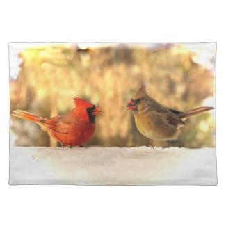 Cardinals in Autumn Placemat