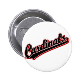 Cardinals in Black 2 Inch Round Button