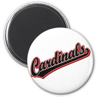 Cardinals in Black 2 Inch Round Magnet