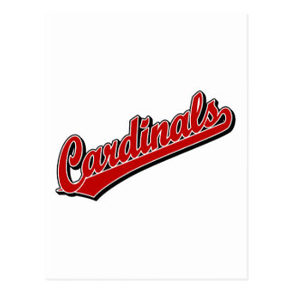 Cardinals in Red Postcard