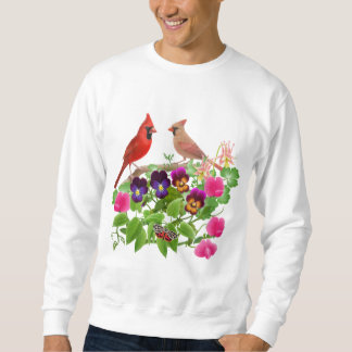 Cardinals in the Garden Sweatshirt