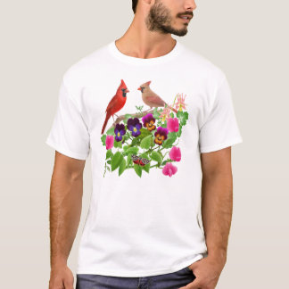Cardinals in the Garden T-Shirt