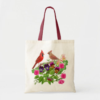 Cardinals in the Garden Tote Bag