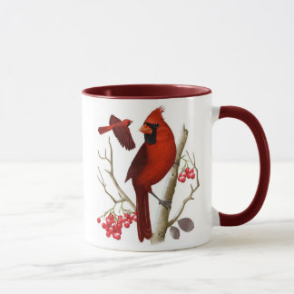 """Cardinals in the Wild"" Bird Coffee Mug"